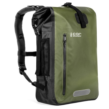 417c55380d8 COR 25L Waterproof Dry Bag Backpack with Padded Laptop Sleeve (Green, 25L)  - Walmart.com