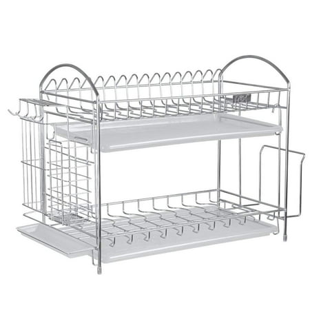 Nex 2 Tier Stainless Steel Dish Rack With Chopstick And
