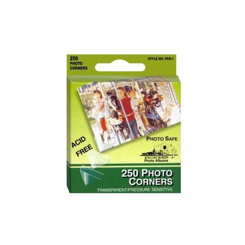 Pioneer Photo Corners Self Adhesive, Clear, 250-Pack Multi-Colored
