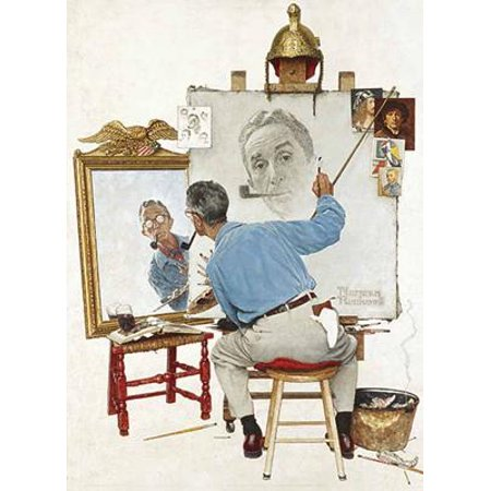 Norman Rockwell's Triple Self-Portrait from the Saturday Evening Post (The Saturday Evening Post Norman Rockwell Glassware Collection)