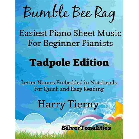 Bumble Bee Rag Easiest Piano Sheet Music for Beginner Pianists Tadpole Edition - eBook - Halloween Piano Music For Beginners