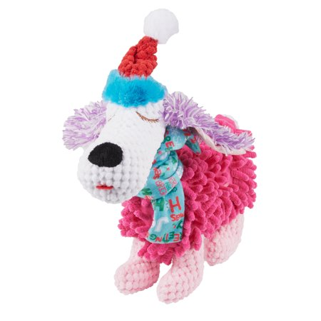 (Holiday Time Squeaky Plush Dog Toy, Dog)