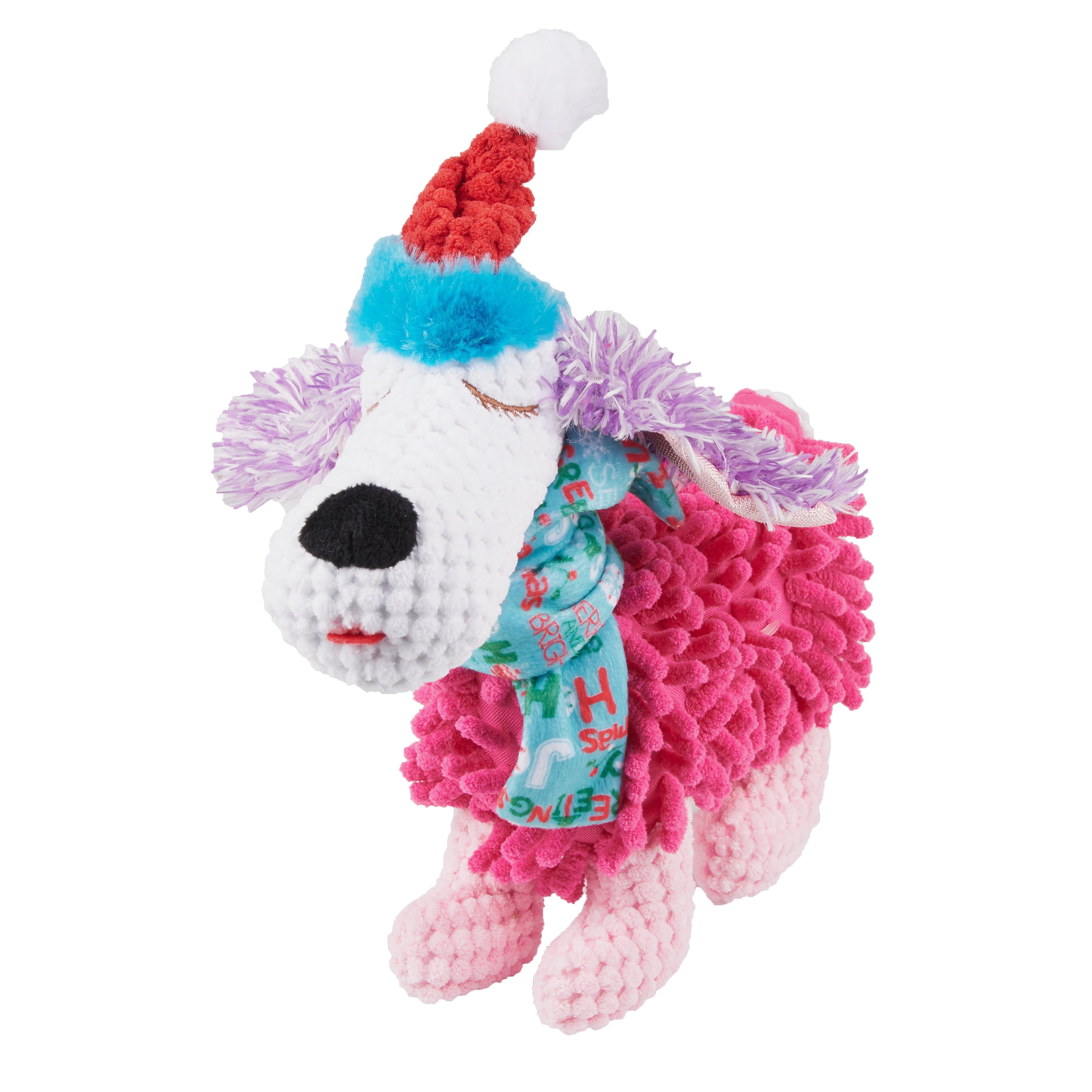 Holiday Time Squeaky Plush Dog Toy, Dog
