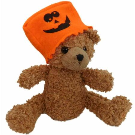 Candy Corn Shaking Spooky Halloween Teddy Bear Plush Pal Stuffed Animal