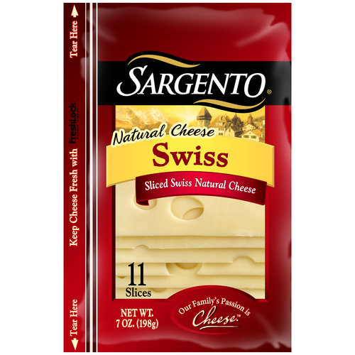 Sargento Natural Deli Style Swiss Cheese Slices, 11 ct