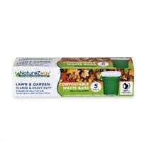 NatureZway Biodegradable Trash Bag, 39 Gallon, 5 Ct