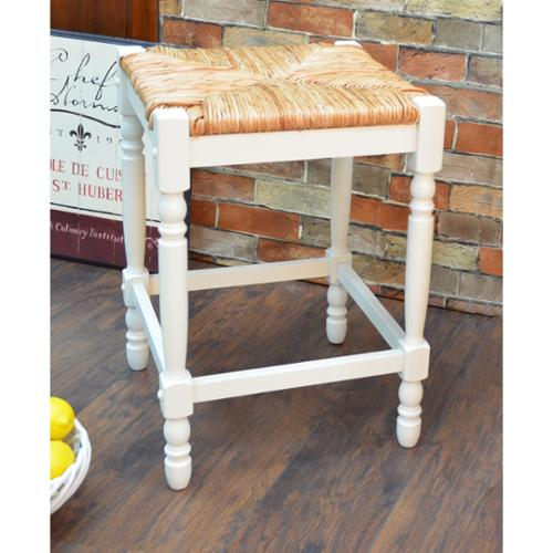 Carolina Chair And Table 24 Inch Antique White Morgan Counter Stool