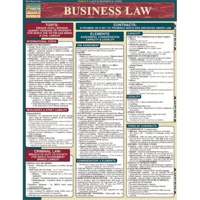 BarCharts- Inc. 9781572228702 Business Law