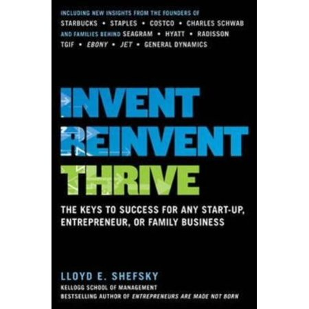 Invent  Reinvent  Thrive  The Keys To Success For Any Start Up  Entrepreneur  Or Family Business
