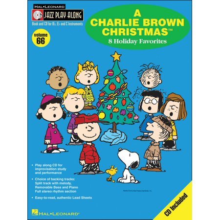 hal leonard a charlie brown christmas jazz play along volume 66 bookcd
