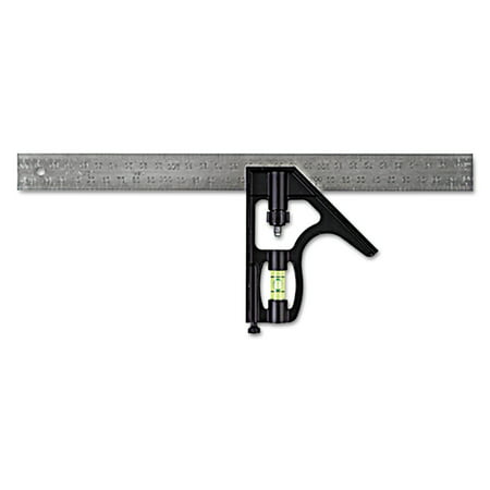 Stanley Tools Combination Square  Steel  12   Black Chrome