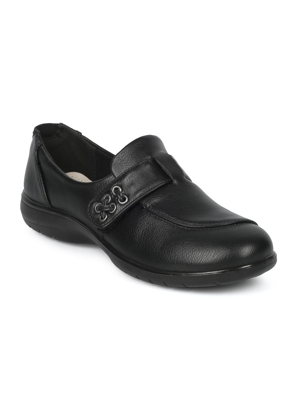 Women Leatherette Belted Elevated Heel Working Loafer HD94