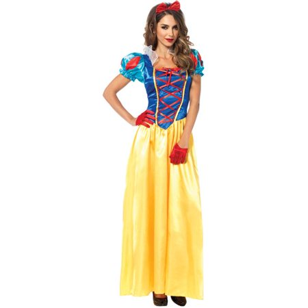 Morris Costume UA85407MD Snow White Classic 2 Piece Costume, Medium (2 Piece Classic Snow)