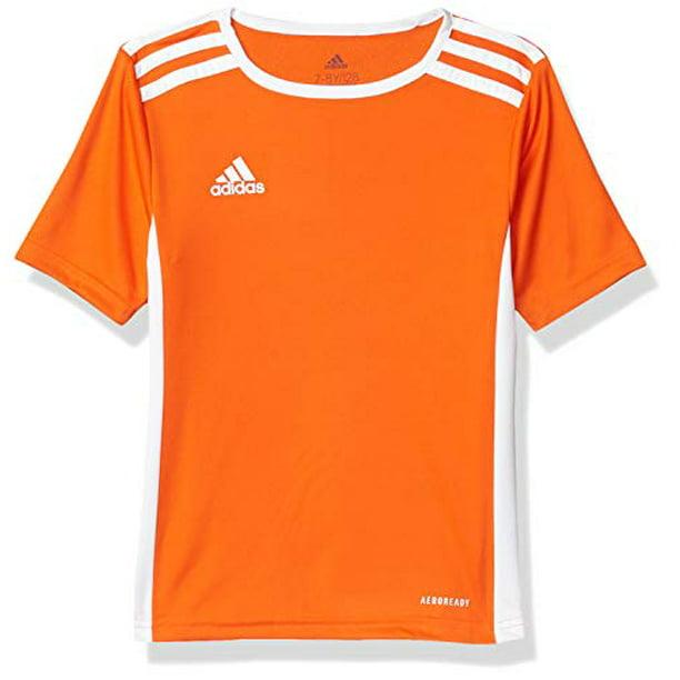 adidas mens Youth Entrada 18 Jersey Orange/White Youth X-Large ...