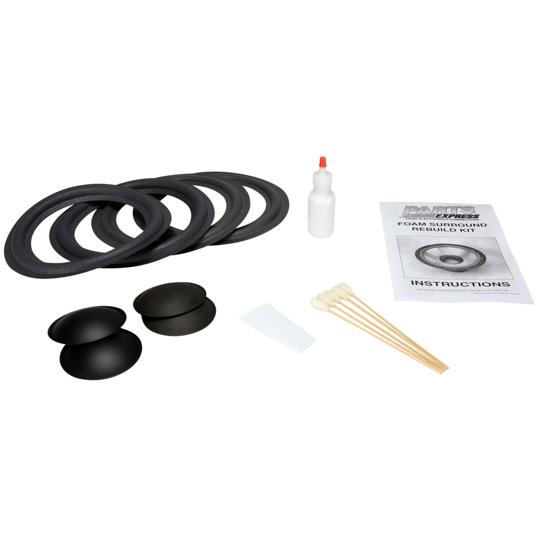 "Parts Express Speaker Surround Re-Foam Repair Kit For 8"" Speaker"