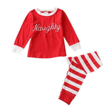 Boys Christmas Pajamas.Girl Autumn Clothes Set Baby Boys Christmas Pajamas Children Cotton 2pcs Pjs Sleepwear Suit Outfit
