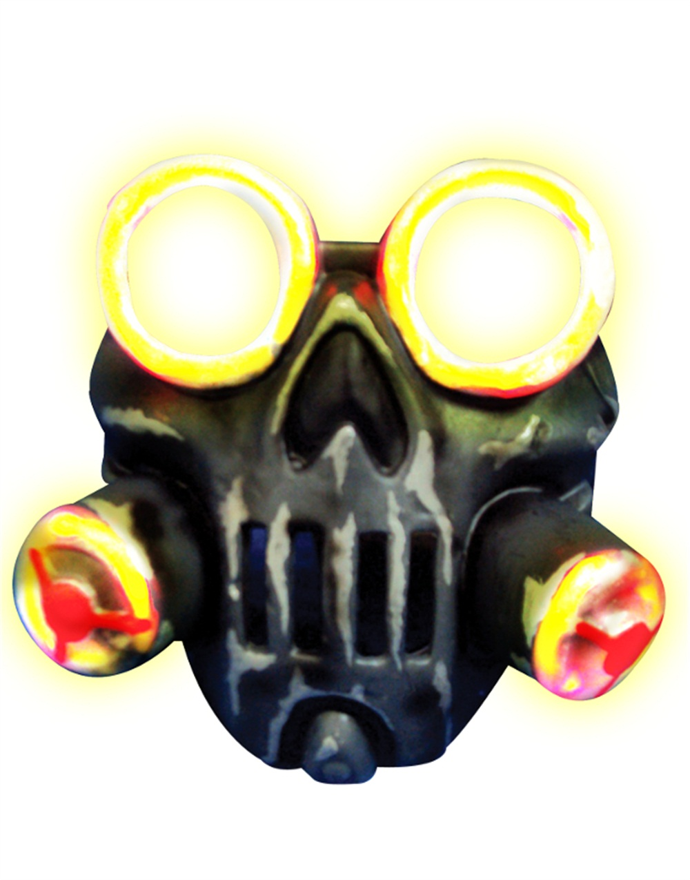 Adult's Toxic Light Up Biohazard Gas Mask Costume Accessory by Rubies Costume Co