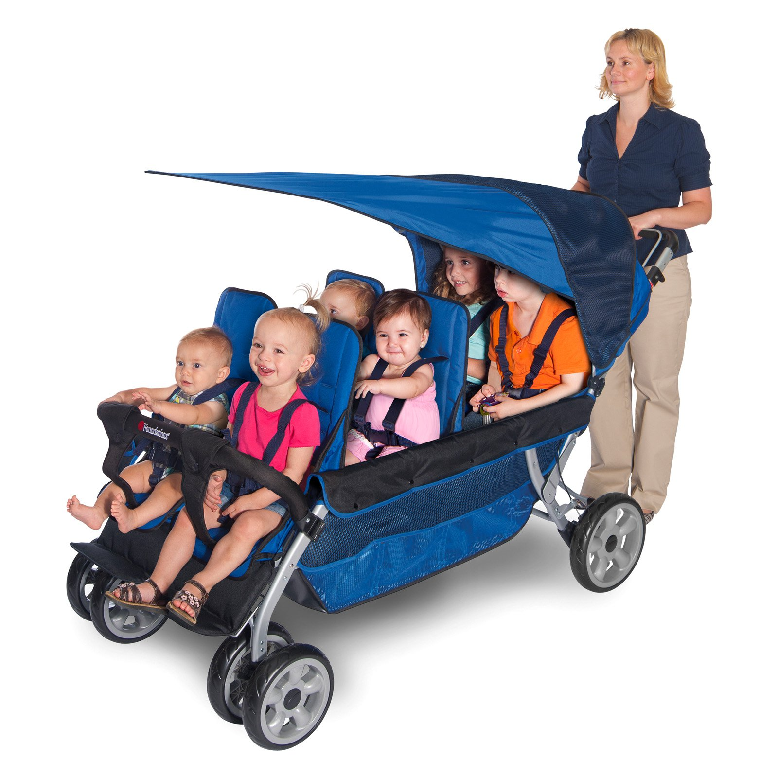 Foundations LX6 6 Passenger Stroller, Regatta Blue