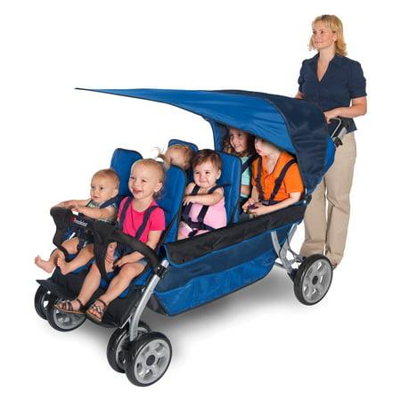 Foundations Lx6 6 Passenger Stroller Regatta Blue Walmart Com