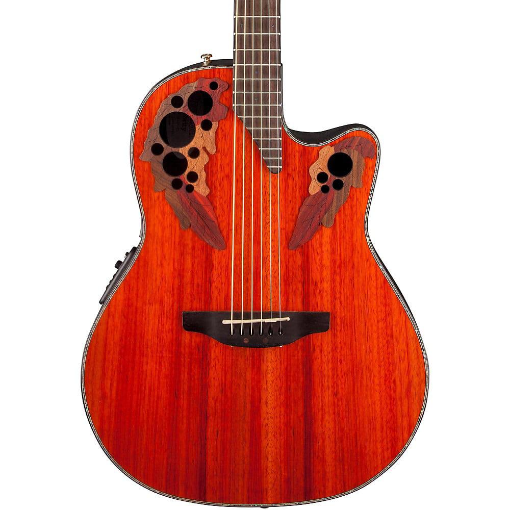 Ovation Celebrity Elite Plus Mid-Depth Cutaway Acoustic Electric Guitar (Padauk)