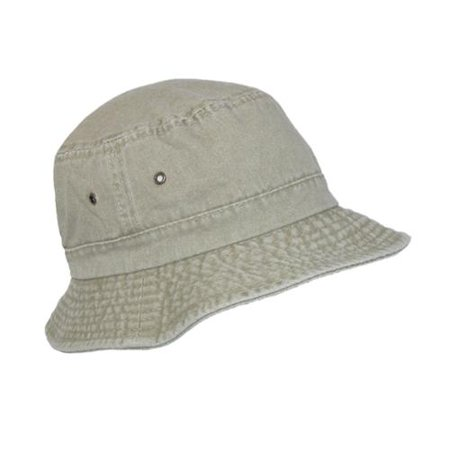 Dorfman Pacific Size 2XL Cotton Packable Summer Travel Bucket Hat, Sand