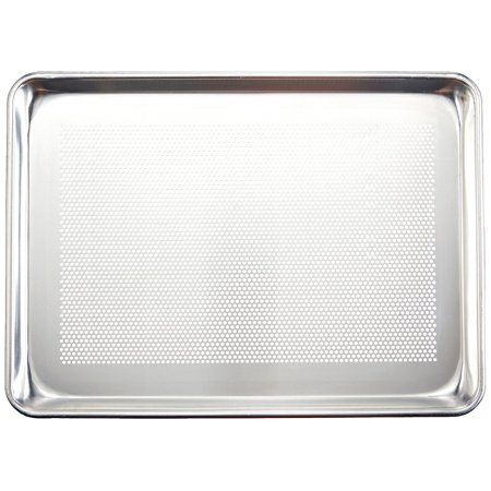 New Star 36718 Commercial Grade 18-Gauge Perforated Aluminum Half Size Sheet Pan, 13 by (Perforated Aluminum Sheet)