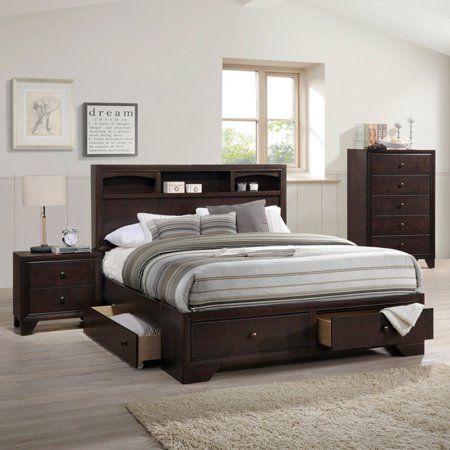 sports shoes 5e36f 9e510 ACME Madison II Queen Bed with Storage in Espresso, Multiple Sizes