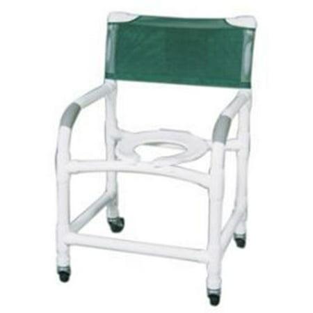 Mjm International 122 3 Sq Pail Shower  Commode Chair