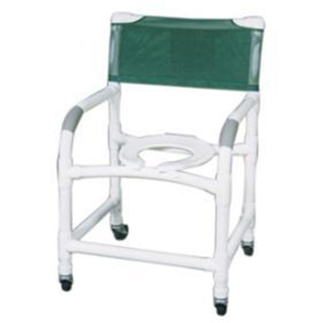 MJM International 122-3-SQ-PAIL Shower- Commode Chair
