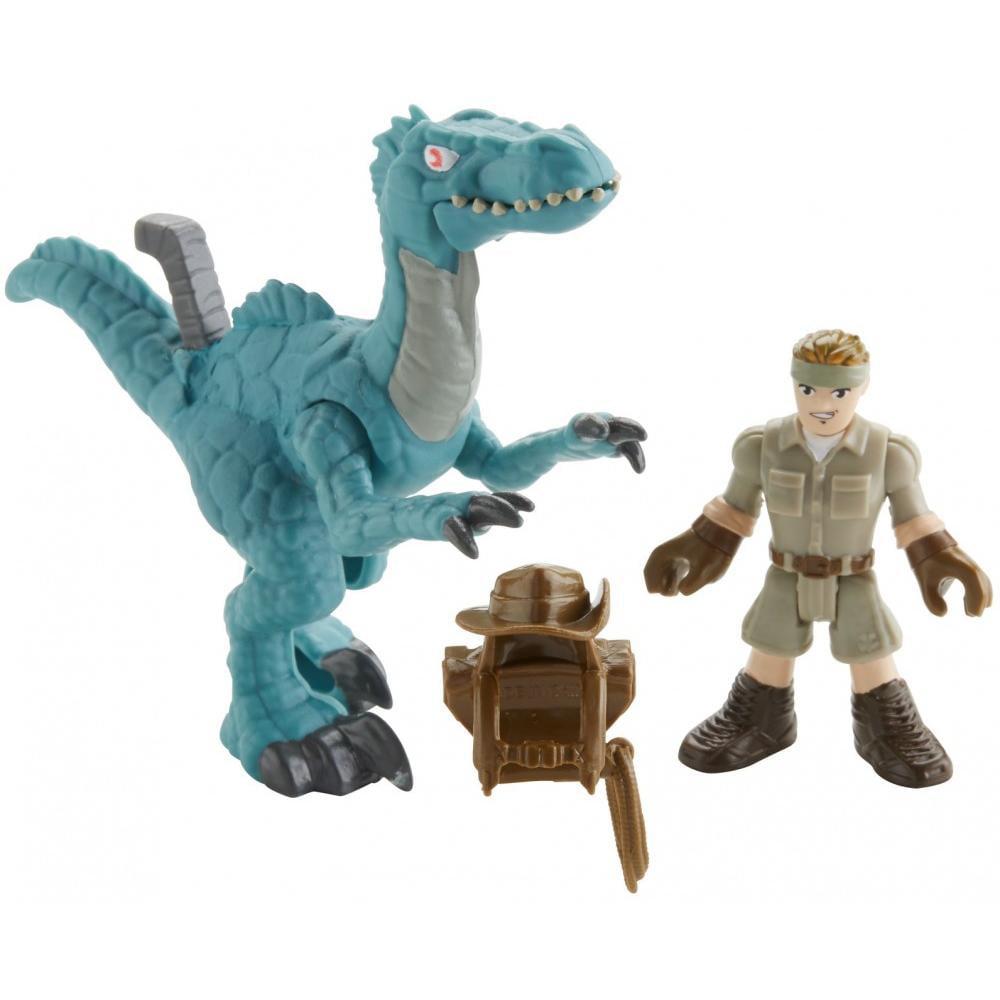 Dinosaurs Mdf Toy Box Childrens Storage Toys Games Books: Imaginext Jurassic Legacy Muldoon & Raptor