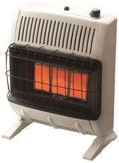 Heatstar Vent-Free Infrared Thermostat Control Natural Gas Heater, Off-White, 30K Btu* by Heatstar