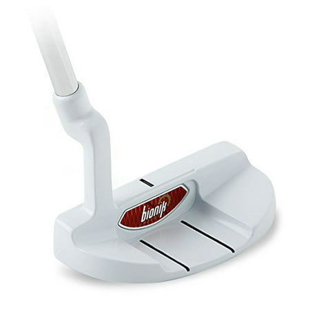 Bionik 105 Nano White Golf Putter Right Handed Semi Mallet Style with Alignment Line Up Hand Tool 34 Inches Men's Standard Length Perfect for Lining up Your Putts Semi Mallet Putter
