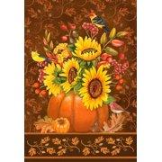 """Pumpkins Bouquet Fall Garden Flag Seasonal Decorative Autumn Banner 12"""" x 18"""""""