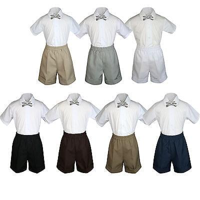 NEW in box 100/% polyester boys kids Cummerbund /& bowtie set formal Silver gray