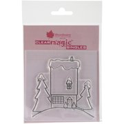"""Woodware Clear Stamps 3.5""""X3.5""""-The House On The Hill"""