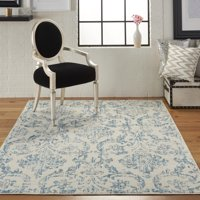 Deals on Nourison Jubilant Farmhouse Damask Area Rug 5ft-3-in x 7ft-3in