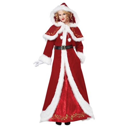 Mrs. Claus Deluxe Costume - Cheap Mrs Claus Costume