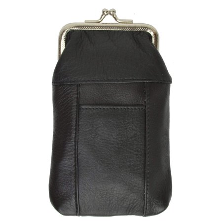 New Design Genuine Leather Cigarette Case with Lighter Pouch 1841 (C)