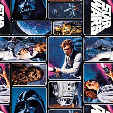 Star Wars Classic Painted Characters 100% Cotton Fabric For Quilting And Crafting Officially Licensed From Marvel