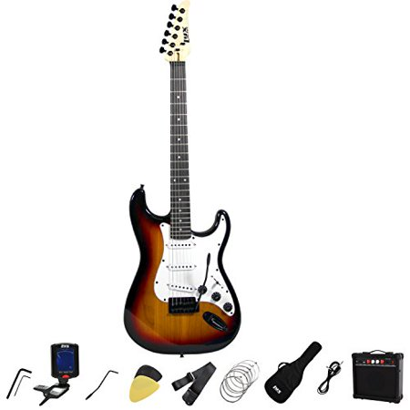 lyxpro full size electric guitar with 20w amp package includes all accessories digital tuner. Black Bedroom Furniture Sets. Home Design Ideas