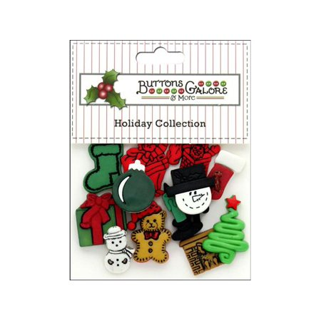 - Buttons Galore Theme Button Holiday Christmas Flat