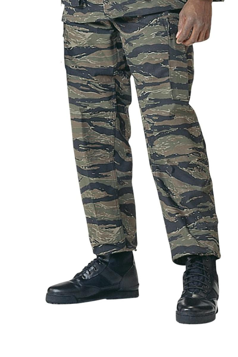 Tiger Stripe Camo BDU Pants, Military Fatigues
