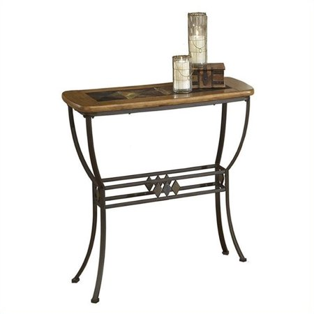 Hillsdale lakeview slate top console sofa table in brown and medium hillsdale lakeview slate top console sofa table in brown and medium oak watchthetrailerfo