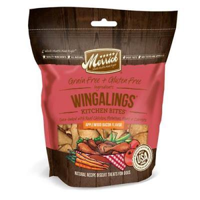 Merrick 9 oz Applewood Bacon Wingalings Kitchen Bites Dog Treats (Applewood Bacon)