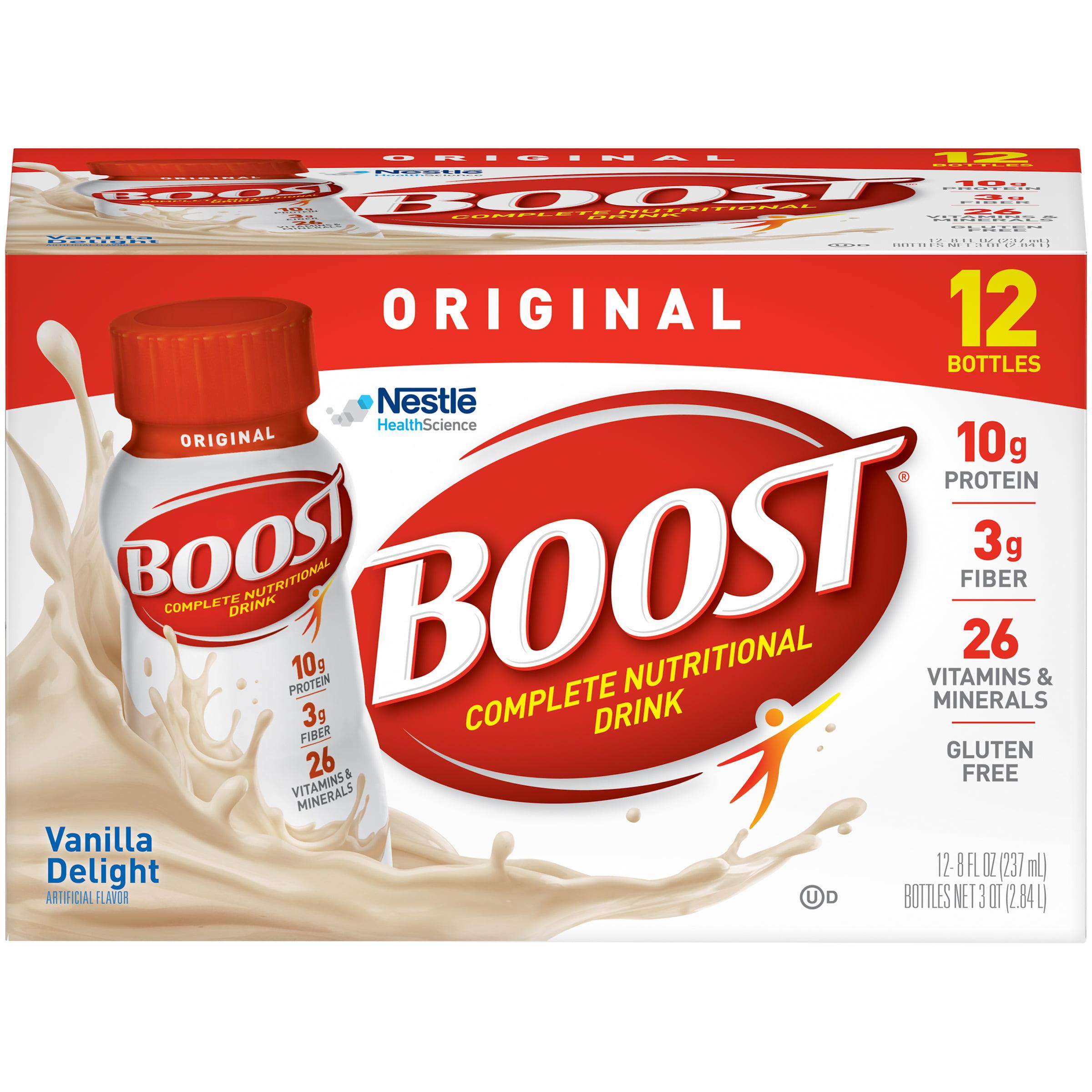 Boost Original Complete Nutritional Drink, Vanilla Delight, 8 Fl oz, 12 Ct