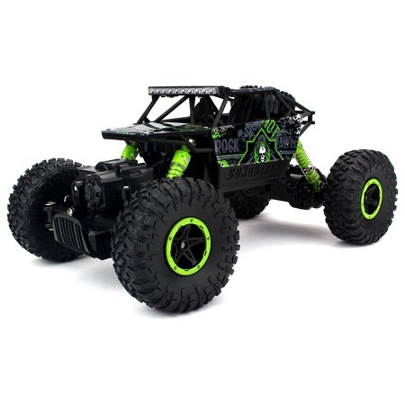 Hpi Wheely King Rock Crawler (Velocity Toys Rock Crawler Remote Control RC High Performance Truck 2.4 GHz Control System 4WD All-Weather 1:18 Size Ready To Run (Colors May Vary) )