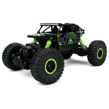 Velocity Toys Rock Crawler Remote Control RC High Performance Truck 2.4 GHz Control System 4WD All-Weather 1:18 Size Ready To Run (Colors May Vary)