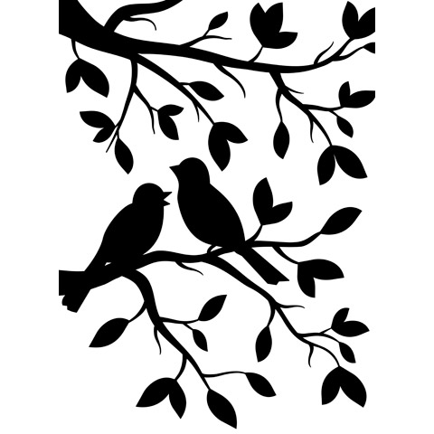 Embossing Folder Bird Branch 4.25X5.75 By Darice