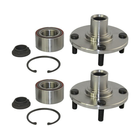 Pair Set Front Wheel Hub Bearing Assembly Kits Replacement for Ford Focus 7S4Z1104A HA590263K (Side Bearing Set)