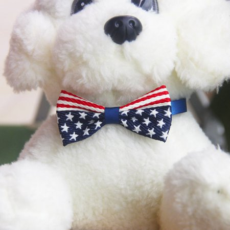 Brand New Flag Printed Pets Cats Dogs Tie Wedding Accessories Dogs Bowtie Collar - image 2 of 5